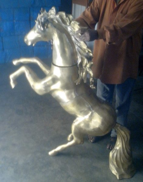 Brass Dancing Horse 36 inches